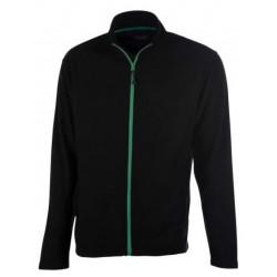 veste polaire manches longues homme noir/vert avant