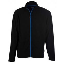 veste polaire manches longues homme noir/bleu avant