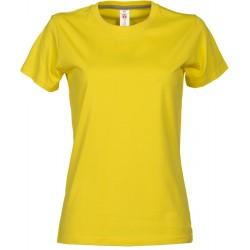 tee-shirt manches courtes femme Jaune