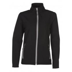 veste softshell bicolor manches longues femme noir/gris