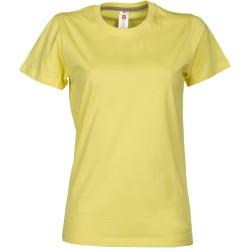 tee-shirt manches courtes femme Jaune clair