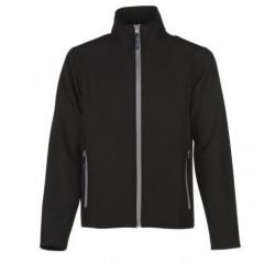veste softshell bicolor manches longues homme noir/gris