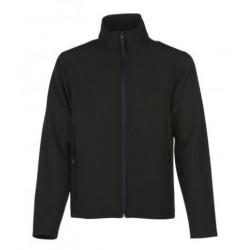veste softshell bicolor manches longues homme noir/noir