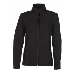 veste softshell bicolor manches longues femme noir/noir