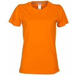 tee-shirt manches courtes femme Orange