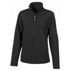 veste softshell 3 couches bicolor manches longues femme noir/noir