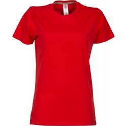 tee-shirt manches courtes femme Rouge