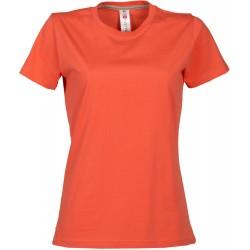 tee-shirt manches courtes femme Corail