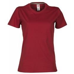 tee-shirt manches courtes femme Bordeaux