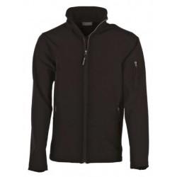 veste softshell 3 couches bicolor manches longues enfant noir/noir