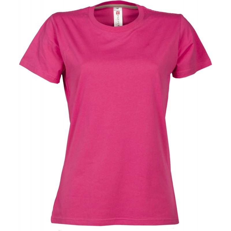 tee-shirt manches courtes femme Fuchsia
