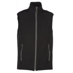veste softshell bicolor sans manches unisexe noir/gris