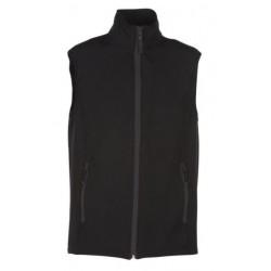 veste softshell bicolor sans manches unisexe noir/noir