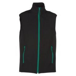 veste softshell bicolor sans manches unisexe noir/vert