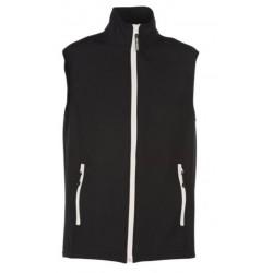 veste softshell bicolor sans manches unisexe noir/blanc