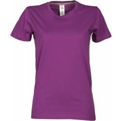 tee-shirt manches courtes femme Violet clair