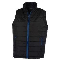 veste bodywarmer matelassé sans manches femme noir/bleu