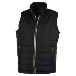veste bodywarmer matelassé sans manches femme noir/gris