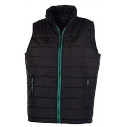 veste bodywarmer matelassé sans manches femme noir/vert