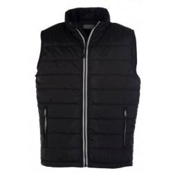 veste bodywarmer matelassé sans manches homme noir/gris