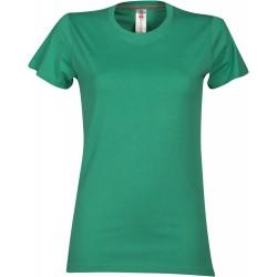 tee-shirt manches courtes femme Vert émeraude