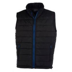 veste bodywarmer matelassé sans manches homme noir/bleu