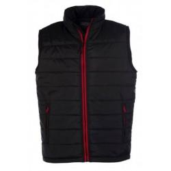 veste bodywarmer matelassé sans manches homme noir/rouge