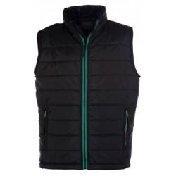veste bodywarmer matelassé sans manches homme noir/vert