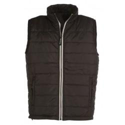 veste bodywarmer matelassé sans manches homme noir/blanc