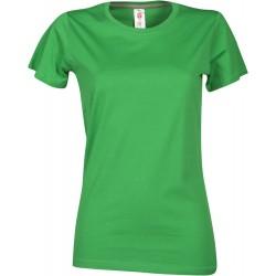 tee-shirt manches courtes femme Vert gelée