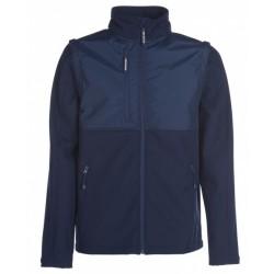 veste softshell manches amovibles unisexe bleu marine