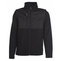 veste softshell manches amovibles unisexe noire