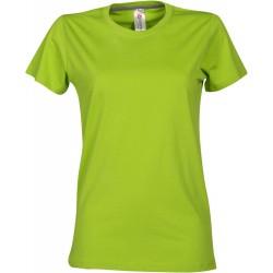 tee-shirt manches courtes femme Vert acide
