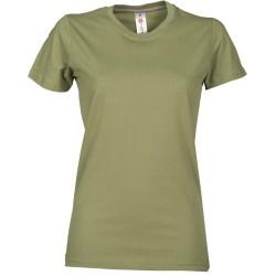 tee-shirt manches courtes femme Vert kaki