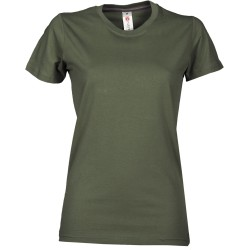 tee-shirt manches courtes femme Vert militaire