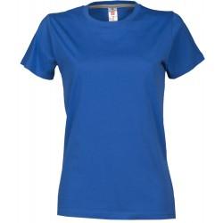 tee-shirt manches courtes femme Bleu roi