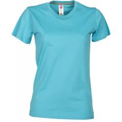 tee-shirt manches courtes femme Bleu atoll