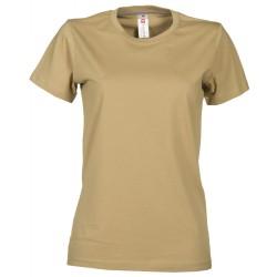 tee-shirt manches courtes femme Beige