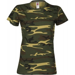 tee-shirt manches courtes femme Camouflage