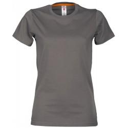 tee-shirt manches courtes femme Gris