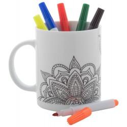 Mug porcelaine à colorier