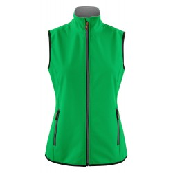 veste sofsthell sans manches femme avant vert