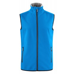 veste sofsthell sans manches homme avant bleu