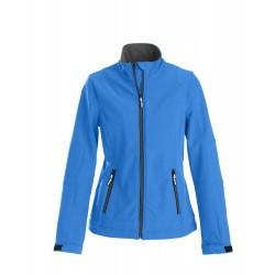 veste softshell légère manches longues femme avant bleue