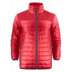 veste doudoune légère manches longues homme avant rouge