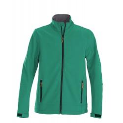 veste softshell légère manches longues homme avant verte
