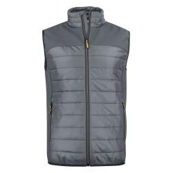 veste doudoune sans manches homme avant grise