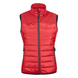 veste doudoune sans manches femme avant rouge