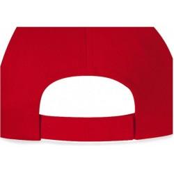 casquette 5 panneaux rouge arrière