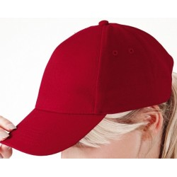 casquette 5 panneaux rouge